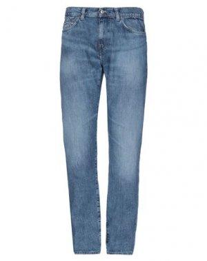 Джинсовые брюки EDWIN. Цвет: синий