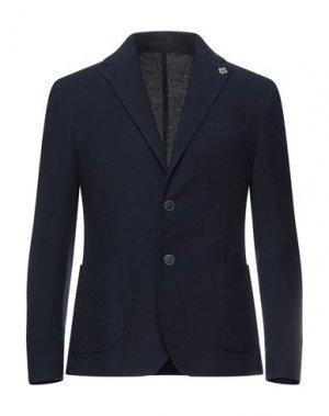Пиджак EXIBIT. Цвет: синий