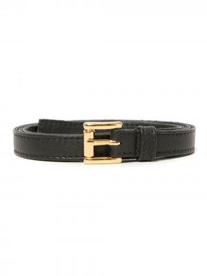 Leather belt Amir Slama. Цвет: черный