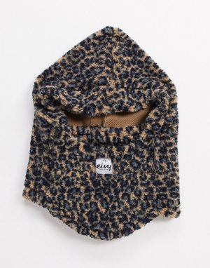 Балаклава из искусственного меха с леопардовым рисунком Mandy-Многоцветный Eivy