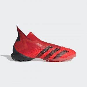 Футбольные бутсы Predator Freak+ TF Performance adidas. Цвет: красный