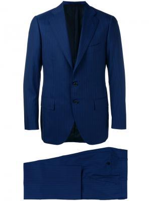 Классический костюм-двойка Cesare Attolini. Цвет: синий