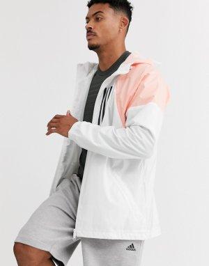 Белая куртка adidas Running-Белый performance