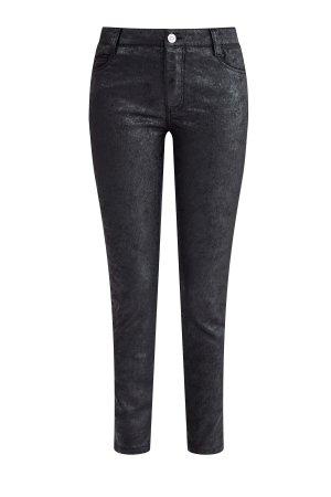Укороченные джинсы с мерцающим напылением и эффектом Photoshop ERMANNO SCERVINO. Цвет: черный