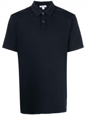 Базовая рубашка поло James Perse. Цвет: черный