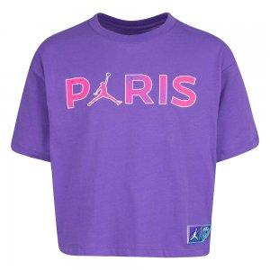 Paris Saint-Germain Boxy Tee Jordan. Цвет: фиолетовый