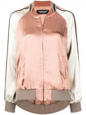 Куртка-бомбер с вышивкой UNDERCOVER. Цвет: розовый