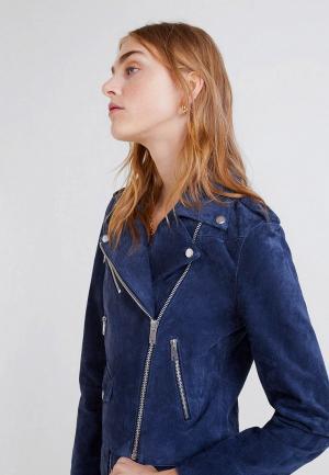 Куртка кожаная Mango - TEXAS5. Цвет: синий