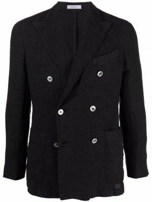 Двубортный пиджак Boglioli. Цвет: черный