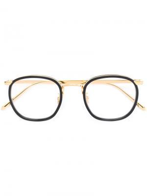 Oval frame glasses Linda Farrow. Цвет: чёрный