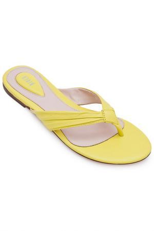 Тапочки ALEXA Bloch. Цвет: желтый