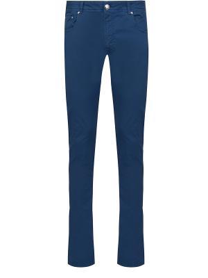 Зауженные джинсы BILANCIONI. Цвет: синий