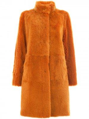 Reversible band collar coat Drome. Цвет: желтый