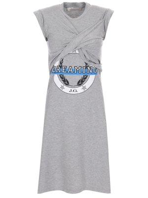 Платье с притом JOHN GALLIANO