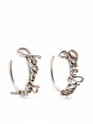Серьги-кольца 1990-х годов Jean Paul Gaultier Pre-Owned. Цвет: серебристый