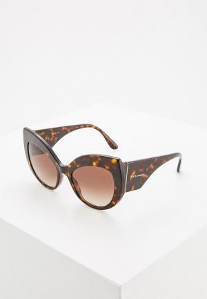 Очки солнцезащитные Dolce&Gabbana DG4321 502/13. Цвет: коричневый