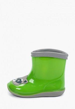 Резиновые сапоги Kenkä. Цвет: зеленый