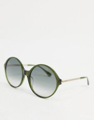 Круглые солнцезащитные очки в стиле oversized Wren-Зеленый цвет Kate Spade