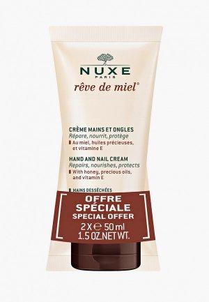 Набор для ухода за руками Nuxe и ногтей, REVE DE MIEL, 50 млх2. Цвет: прозрачный