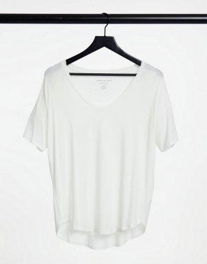 Белая футболка с короткими рукавами -Белый American Eagle