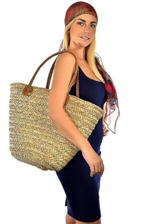 Комплект: шарф, сумка Fabretti. Цвет: солома, бордовый