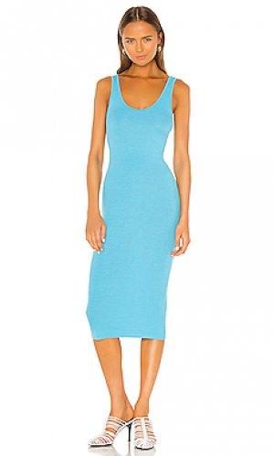 Платье-майка Enza Costa. Цвет: бирюзовый