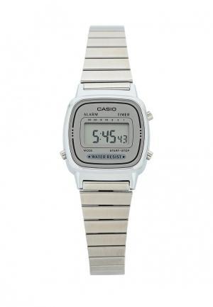 Часы Casio Collection LA670WEA-7E. Цвет: серебряный
