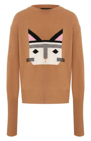 Шерстяной пуловер Markus Lupfer. Цвет: бежевый