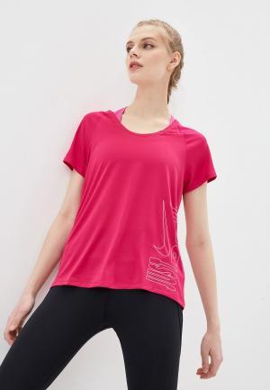Футболка спортивная Nike W NK ICON CLASH MILER TOP SS. Цвет: розовый