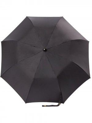 Складной зонт и стеганый чехол Chanel Pre-Owned. Цвет: черный
