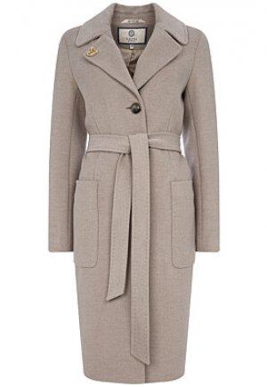 Шерстяное пальто с поясом Electrastyle