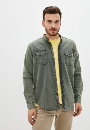 Рубашка джинсовая Trendyol. Цвет: хаки