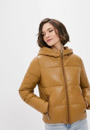Куртка утепленная Fadjo. Цвет: коричневый