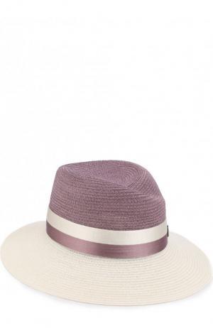 Шляпа Virginie с лентой Maison Michel. Цвет: сиреневый