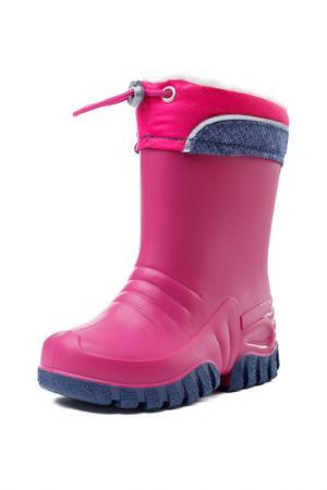 Сапоги резиновые PlayToday. Цвет: розовый, темно-серый