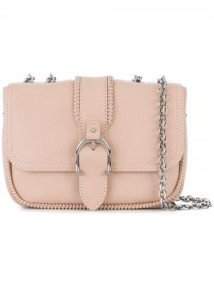 Сумка через плечо с пряжкой Longchamp. Цвет: розовый