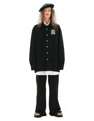 Черная джинсовая рубашка Raf Simons