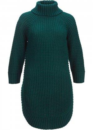 Вязаный пуловер bonprix. Цвет: зеленый