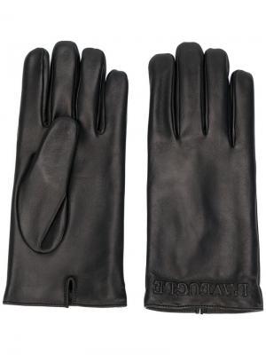 Перчатки LAveugle Par Amour Gucci. Цвет: черный
