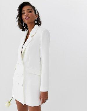 Свадебное платье-блейзер -Белый ASOS EDITION