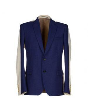 Пиджак WALTER VAN BEIRENDONCK. Цвет: темно-синий