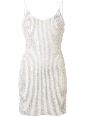 Платье мини Nelle с пайетками Alice+Olivia. Цвет: белый