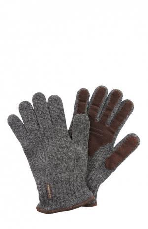 Перчатки вязаные Paul&Shark. Цвет: серый