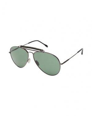 Солнечные очки TOD'S. Цвет: зеленый