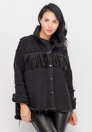 Куртка джинсовая Bellart. Цвет: черный