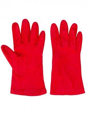 Перчатки с вышивкой Escada Sport. Цвет: красный