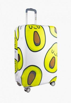 Чехол для чемодана Proffi travel. Цвет: белый