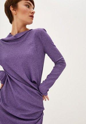 Платье Vivienne Westwood Anglomania. Цвет: фиолетовый