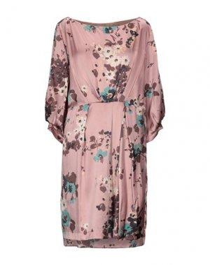Платье до колена E-GÓ. Цвет: розовый