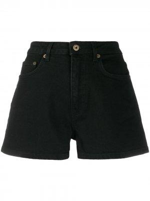 Джинсовые шорты с завышенной талией McQ Alexander McQueen. Цвет: черный